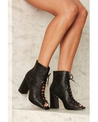 E8 - Teal Embossed Leather Bootie - Lyst