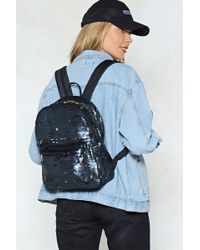 Nasty Gal - Want Sequin You Again Backpack - Lyst fc451862b5b39
