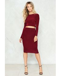 Nasty Gal - Time To Pair Up Top And Skirt Set - Lyst