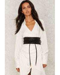 Nasty Gal - Bow Way Out Wrap Belt - Lyst