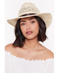 """Nasty Gal - """"straw It Coming Woven Hat"""" - Lyst"""