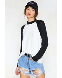 Nasty Gal - She Was A Skater Girl Long Sleeve Tee - Lyst
