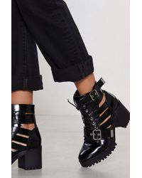 Nasty Gal - Cut-out Of Luck Boot - Lyst