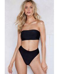 Nasty Gal - On A High-leg Bikini Bottoms - Lyst