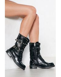 Nasty Gal | Moonlight Drive Studded Boot | Lyst