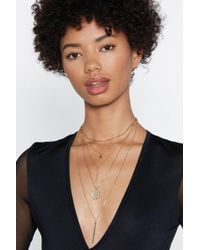 Nasty Gal - You're So Fine Layered Necklace - Lyst