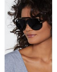 Nasty Gal - All Bar You Aviator Shades - Lyst