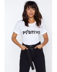 Nasty Gal - Mtv Staying Alive Positive Tee - Lyst