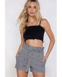Nasty Gal - Live A Little Gingham Shorts - Lyst