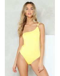 Nasty Gal - One Shoulder High Leg Swimsuit One Shoulder High Leg Swimsuit - Lyst