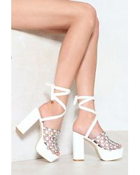 """Nasty Gal - """"cage Out Of Control Studded Heel"""" - Lyst"""