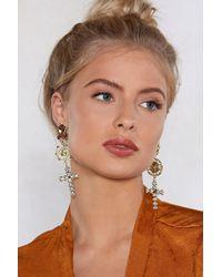 Nasty Gal - So Old School Drop Earrings - Lyst