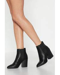"Nasty Gal - ""walk Away Faux Leather Chelsea Boots"" - Lyst"