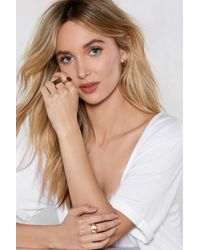 Nasty Gal - All Beautiful Swans 3-pc Ring Set - Lyst