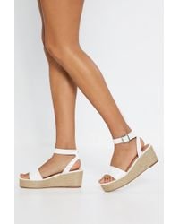 Nasty Gal - Espadrille There Be Sun Wedge Sandals - Lyst