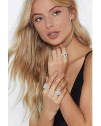 Nasty Gal - Etch For More 3-pc Ring Set - Lyst