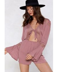 """Nasty Gal - """"tomorrow Is Another Day Lace Romper"""" - Lyst"""