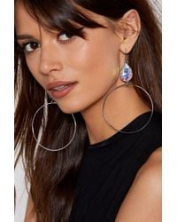 Nasty Gal - We Got A Stone To Pick With You Hoop Earrings - Lyst