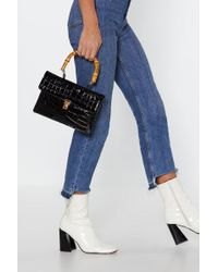 """Nasty Gal - """"want Under Croc And Key Patent Bag"""" - Lyst"""