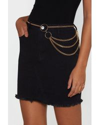 "Nasty Gal - ""chain It In Circle Belt"" - Lyst"
