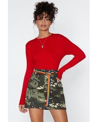 Nasty Gal - The Way Knit Is Ribbed Jumper - Lyst
