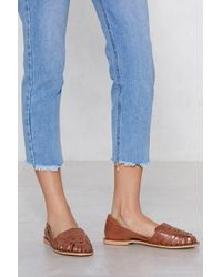 Nasty Gal - One Step Ahead Leather Sandal - Lyst
