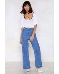 Nasty Gal - Haters Gonna Hate Wide-leg Jeans - Lyst