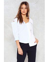 Nasty Gal - Gotta Shoulder On Cold Shoulder Shirt - Lyst
