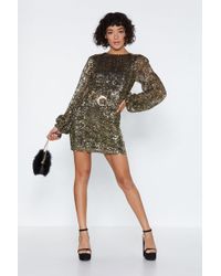5c9caf9459 Nasty Gal - Last Night A Dj Saved My Life Sequin Dress - Lyst