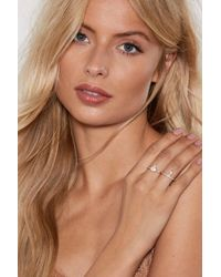 Nasty Gal - Shape Of You 4-pc Ring Set - Lyst