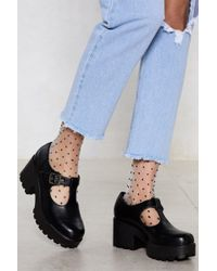 """Nasty Gal - """"head T-the-bar Cleated Shoe"""" - Lyst"""