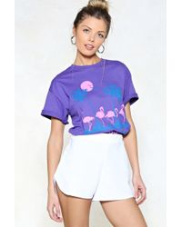 Nasty Gal | Come To A Stop High-waisted Shorts | Lyst