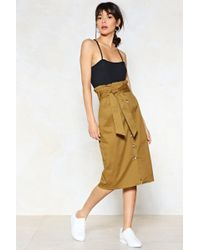 Nasty Gal - It's In The Bag Midi Skirt - Lyst