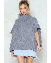 Nasty Gal | Warm Regards Oversized Sweater | Lyst