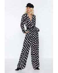 Nasty Gal - You Dot It Polka Dot Jumpsuit - Lyst