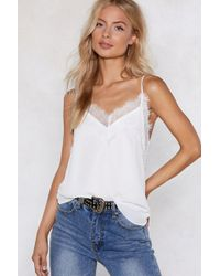 Nasty Gal - Lace The Consequences Cami Top - Lyst