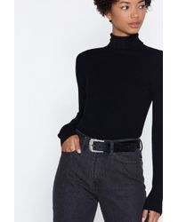 Nasty Gal - That's Just Shine Diamante Belt - Lyst
