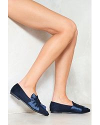 Nasty Gal - Show's Over Satin Loafer - Lyst