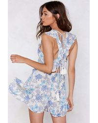 Nasty Gal - You Grow To My Head Floral Romper - Lyst