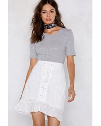 Nasty Gal - We Need Some Lace-up Skirt - Lyst