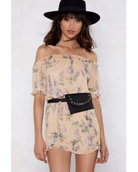 Nasty Gal - Letting Grow Floral Romper - Lyst