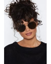 Nasty Gal - From All Sides Hexagonal Shades - Lyst