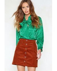 Nasty Gal - Life's Jacquard Pussybow Blouse - Lyst