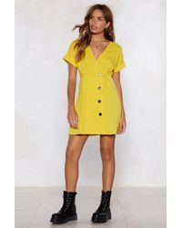 Nasty Gal - Button To The Next Mini Dress - Lyst