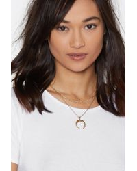 Nasty Gal - Take The Bead Crescent Moon Necklace - Lyst