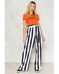 Nasty Gal | Your Guess Is As Good As Line Striped Trousers | Lyst