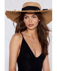 Nasty Gal - Hats Off To You Straw Hat - Lyst