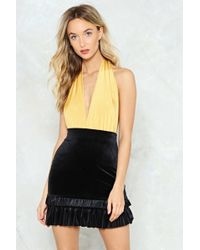 Nasty Gal | Velour To The Point Ruffle Skirt Velour To The Point Ruffle Skirt | Lyst