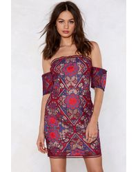 Nasty Gal - Got A Lot On My Thread Embroidered Dress - Lyst
