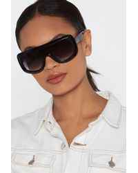"Nasty Gal - ""don't Be Shady Visor Shades"" - Lyst"